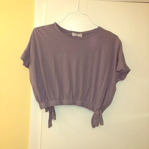 Blueish/Purple cropped shirt